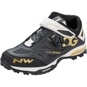 Northwave Enduro Mid Kengät Miehet, black/off white/gold
